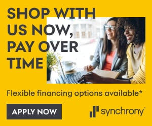 Flexible financing available through Synchrony